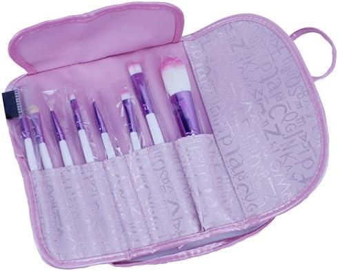 popfeel® Belleza 8 piezas esenciales ojo juego de brochas con estuche de viaje, gran para Mac Eyeshadow, Dior, brillo de labios, polvos y colorete: Amazon.es: Belleza