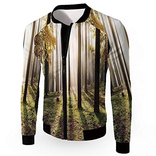 Coats,Farm House Decor,Men's Lightweight Zip-up Windproof Windbreaker Jacket,LAN ()