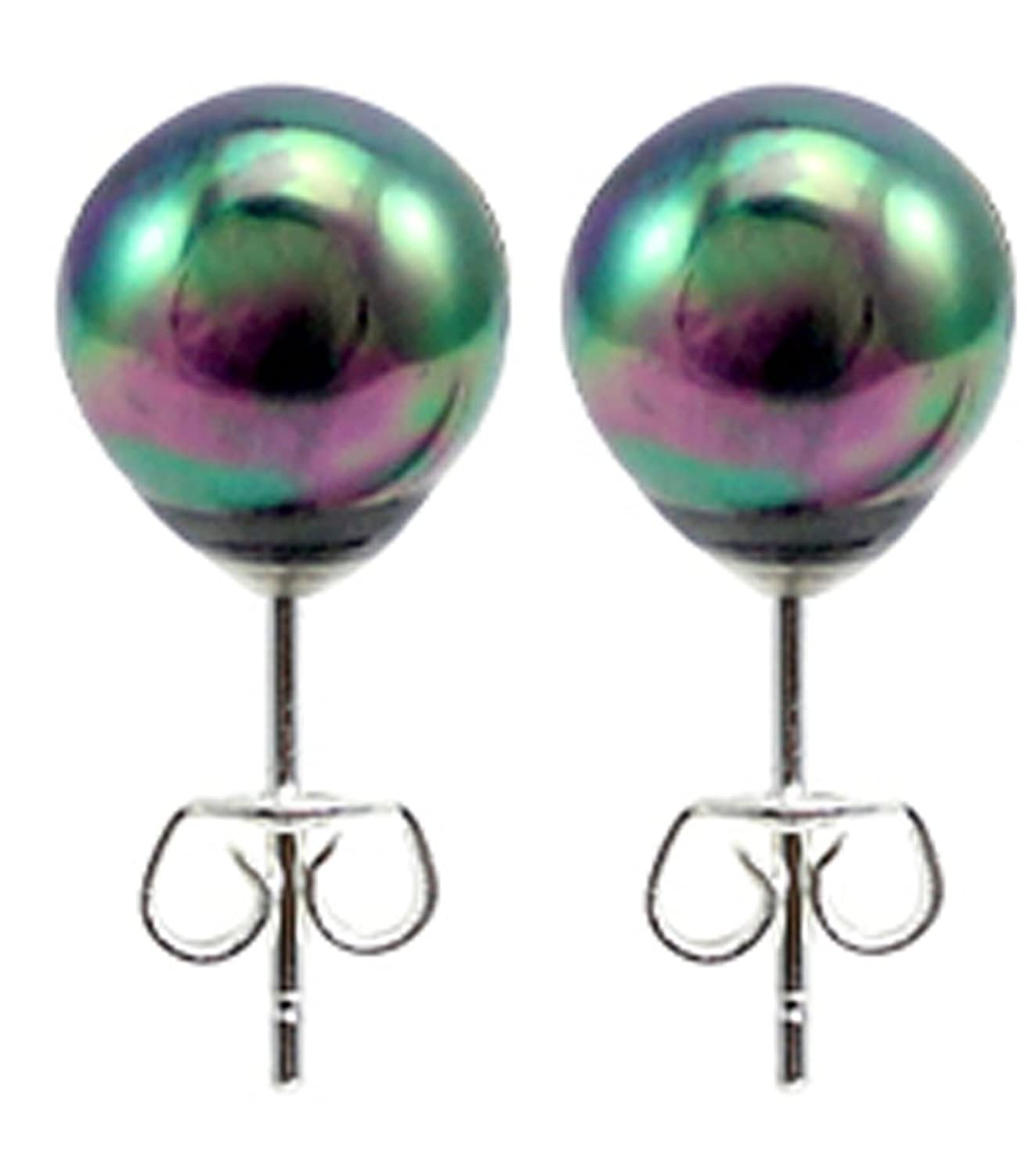 dana simulated s buchman pin earrings green women abalone stud asymmetrical