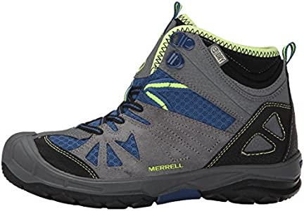 Boots Merrell Capra Mid Wateproof gray child blue