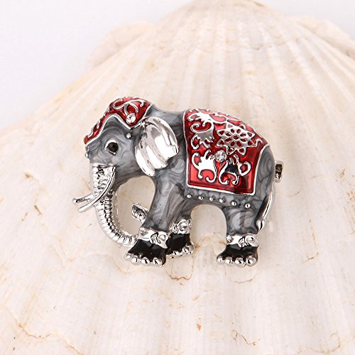 Kercisbeauty Elephant Brooch Pin Collar Pin Badge Boho Old Fashion Perfect Gift,Birthday,Anniversary Gift,Daily,Party Accessories,Gift for Coat,Bag (Silver) ()