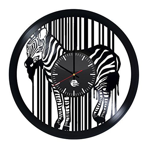 baby zebra vinyl wall clock get unique nursery room wall decor gift ideas for