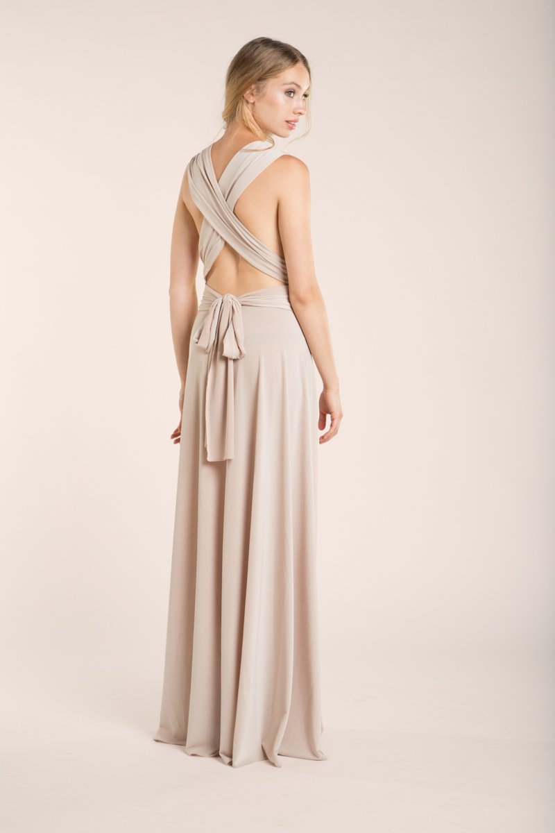 Amazon.com: Bridesmaid long dress, beige bridesmaids dresses, backless long dress, champagne long dress, cream long dress, event gown, long prom dress: ...