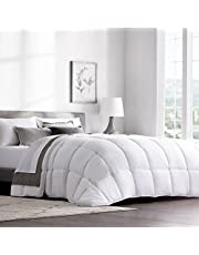 WEEKENDER Quilted Down Alternative Hotel-Style Use Insert or Stand-Alone Comforter-for All Seasons-Corner Duvet Tabs