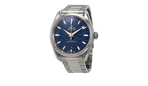 Omega Seamaster Aqua Terra 220.10.38.20.03.002 - Reloj de Pulsera para Mujer, cronómetro, automático, Esfera Azul: Amazon.es: Relojes