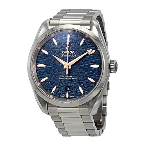 Omega Seamaster Aqua Terra Co-Axial Master Chronometer Automatic Blue Dial Ladies Watch 220.10.38.20.03.002
