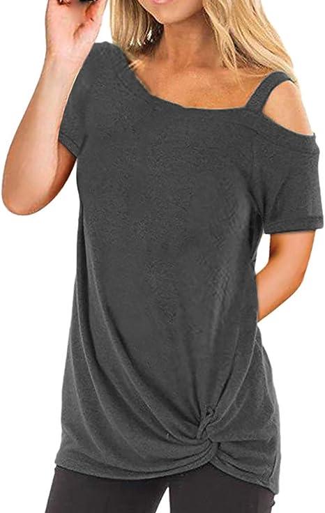 Camisetas Mujer Manga Larga Sexy Ronamick Verano Blusa Blanca Niña Tops Mujer Deporte Verano Camisa Cuadros Mujer (Gris oscuro,M): Amazon.es: Iluminación