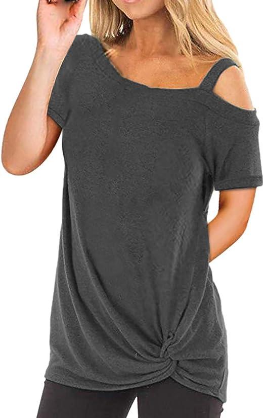 Camisetas Mujer Manga Larga Sexy Ronamick Verano Blusa Blanca Niña Tops Mujer Deporte Verano Camisa Cuadros Mujer (Gris oscuro,L): Amazon.es: Iluminación