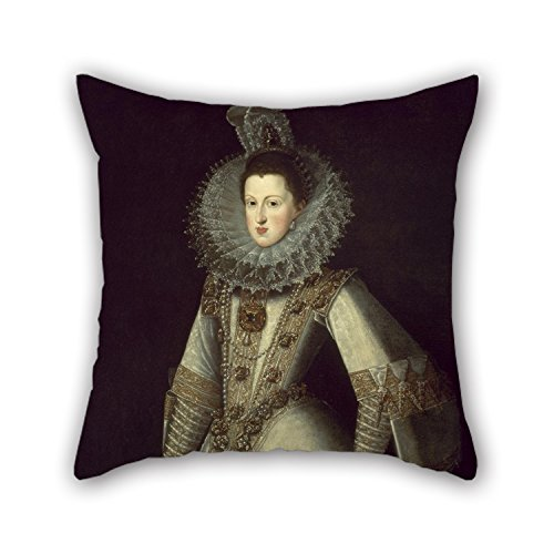 Gingham Standard Sham - Artistdecor 16 X 16 Inches / 40 By 40 Cm Oil Painting Juan Pantoja De La Cruz - Margaret Of Austria, Queen Of Spain Pillow Shams ,both Sides Ornament And Gift To Boy Friend,teens,dining Room,bedding