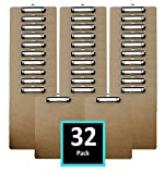 Clipboards (32 Pack) Letter Size Hardboards in bulk – Perfect for office, business or school
