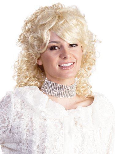 Dolly Parton Country Singer Women's 1980s Enigma Costume Wig - Blonde, One (Dolly Parton Costume Halloween)