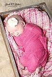 Rose Stretch Knit Photography Wrap - 16x64 Stretch Knit Newborn Baby Wrap, Photography Props, Newborn Photography Props, Baby Props, Photo Props