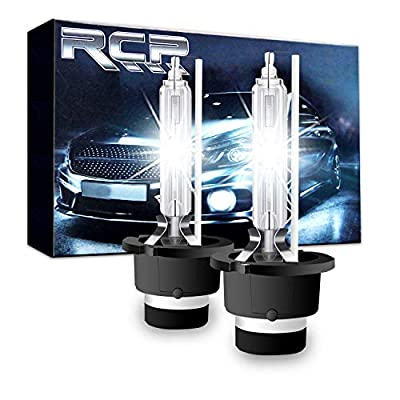RCP - D4S6 - (A Pair) D4S/ D4R 6000K Xenon HID Replacement Bulb Diamond White Metal Stents Base 12V Car Headlight Lamps Head Lights 35W: Automotive