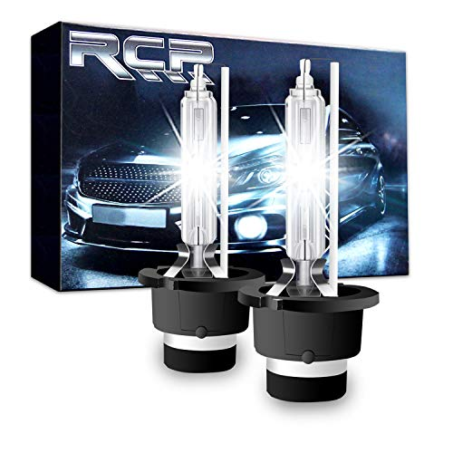 Replacement Auto Lamp - RCP - D4S6 - (A Pair) D4S/ D4R 6000K Xenon HID Replacement Bulb Diamond White Metal Stents Base 12V Car Headlight Lamps Head Lights 35W