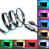 """Bias Lighting for HDTV USB Powered TV Backlighting Home Theater Accent Lighting, 35.4"""" Led Strip Light Multi Color RGB (Reduce eye fatigue and increase image clarity)"""