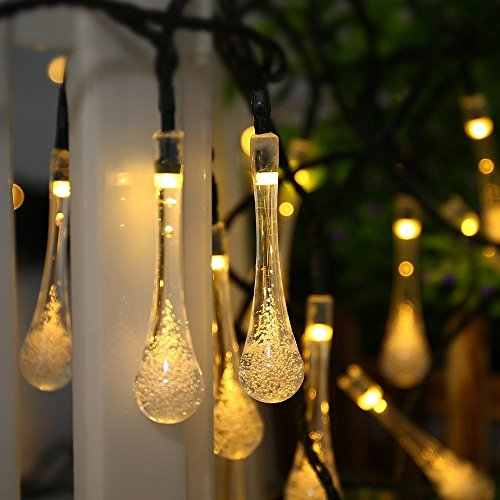 Qedertek Solar String Lights, 19.2 Ft 8 Modes 30 Water