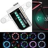 KEKU Bicicleta de rueda LED impermeable 14 coloridos LED rayos de luz para la noche de Halloween, montar al aire libre con 30 cambios de patrón diferente.