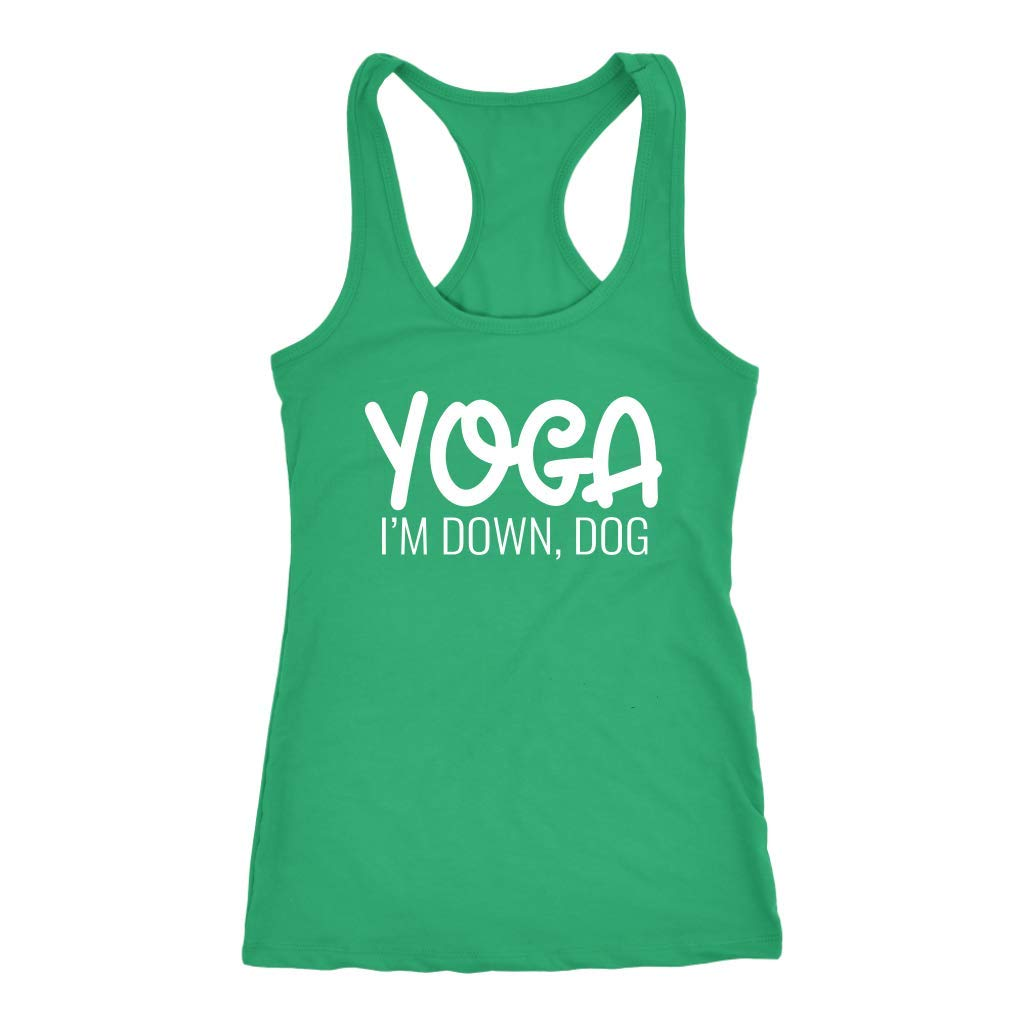Tessa Mae Designs Funny Workout Racerback Tank Top - Yoga I ...