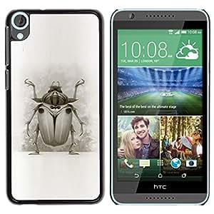 GOODTHINGS Funda Imagen Diseño Carcasa Tapa Trasera Negro Cover Skin Case para HTC Desire 820 - escarabajo patas alas de dibujo de la naturaleza del arte