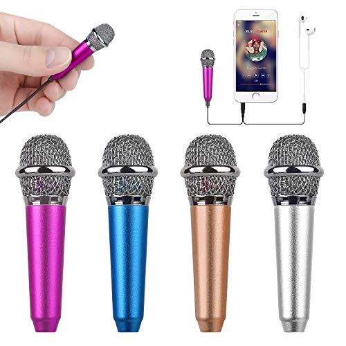 Mini micrófono para celular con clip (rosa)