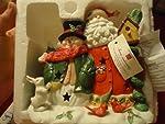 Home Interiors Santa & Snowman Decorative Candle Holder