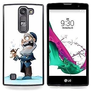 """For LG G4c Curve H522Y ( G4 MINI , NOT FOR LG G4 ) Case , Capitán viejo hombre de invierno de dibujos animados Niños"""" - Diseño Patrón Teléfono Caso Cubierta Case Bumper Duro Protección Case Cover Funda"""