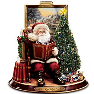 Thomas Kinkade Storytelling Santa Tabletop Figurine: 'Twas The Night Before Christmas by The Bradford Exchange