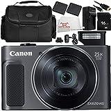 Canon PowerShot SX620 HS Digital Camera (Black) 7PC Accessory Bundle – Includes 2x Replacement Batteries + AC/DC Rapid Home & Travel Charger + MORE - International Version (No Warranty)