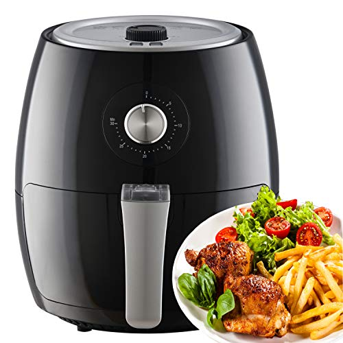 Netta Air Fryer Oil Free with Adjustable Temperature Control and Timer ,3.5L Black Manual