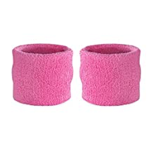 Suddora Kids Wrist Sweatband Also Available in Neon Colors - Athletic Cotton Terry Cloth Wristband for Sports (Pair)