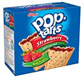 Pop-Tarts, (Not Frosted) Strawberry, 12-Count Boxes (Pack of 12)