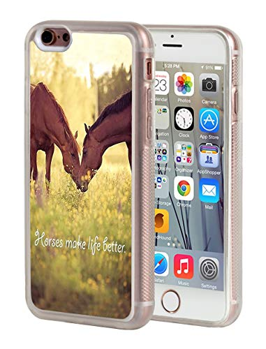 iPhone 6 Case,iPhone 6S Case,BWOOLL Horse Theme Design Slim Anti-Scratch Shockproof Clear TPU Rubber Protective Cover Apple iPhone 6/iPhone 6S (4.7 inch) ()
