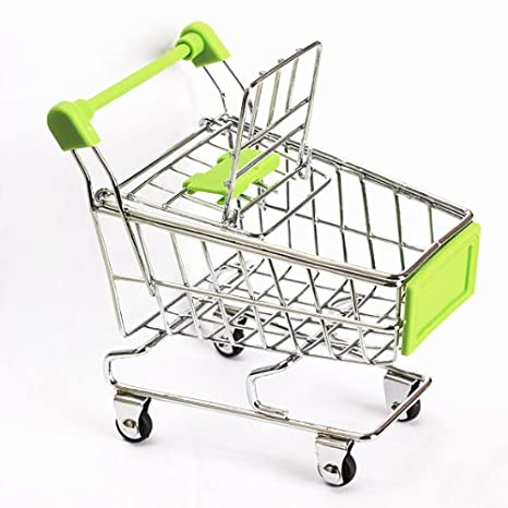 Amazon.com: Whitelotous Mini Supermarket Handcart Green Shopping Utility Cart Mode Green Storage: Office Products