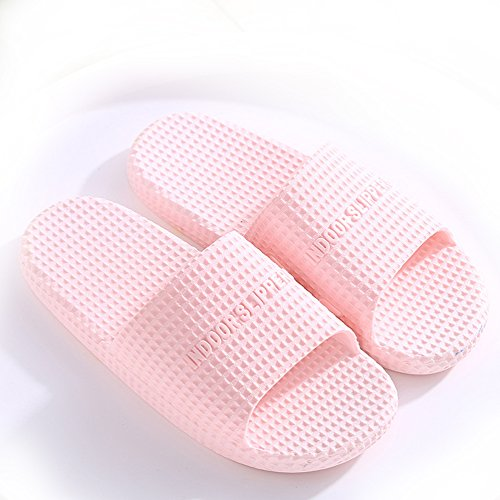 Zapatillas claro casa de Pareja DYY de Zapatillas y Verano Señoras de Rosa Baño Sandalias de Zapatillas Interior de qTZA4Ww4