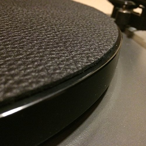 Premium Swiss Leather Turntable Mat | Black | Slipmat Made in USA