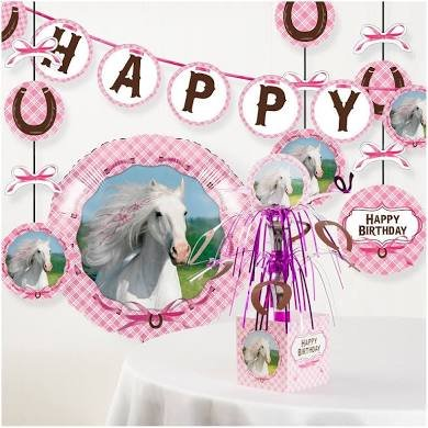 Heart my Horse Birthday Party Decorations Kit -