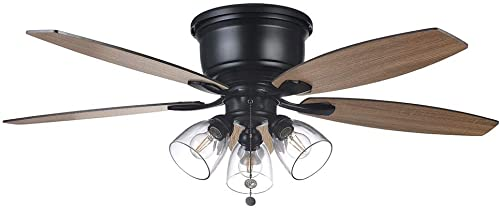 Stoneridge 52 in. Matte Black Hugger LED Ceiling Fan