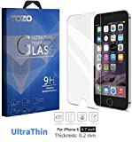 iPhone 6S Screen Protector Glass , TOZO® [0.2mm] Ultrathin Premium Tempered Glass [3D Touch Compatible] 9H Hardness 2.5D Edge [Super Clear] Screen [Lifetime Warranty] 0.15mm ...