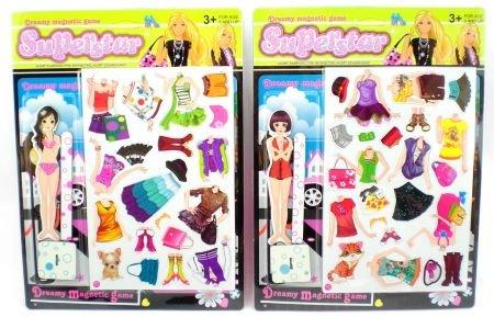 Street Smart Girl Magnetic Dress Up Paper Doll One Random Style
