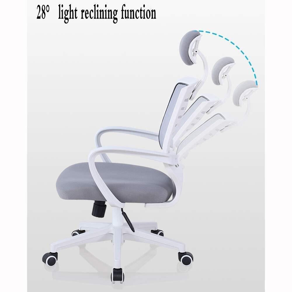 HUIYUAN stol kontorsstol hem dator stol andningsbar nät ländrygg stöd höjd justerbar skrivbordsstol svängbar stol bärande vikt 150 kg (färg: Blå) Svart