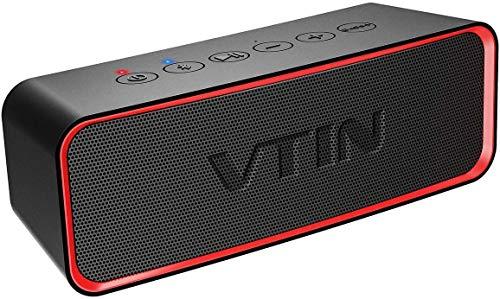 VTIN R2 Altavoces portátiles Bluetooth, Altavoz portátil IPX6 a Prueba de Agua, 14W estéreo HD, 20 Horas de Vida útil…