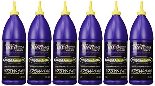 Royal Purple 01301 Max-Gear Synthetic Gear Lube Oil 75W140 Pack of 6 Quarts by Royal Purple