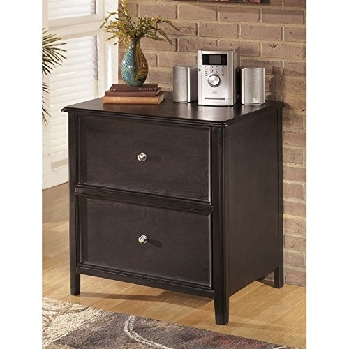 Ashley Carlyle H371-42 31″ Lateral File Cabinet Including 2 Drawers with Simple Pulls Molding Detail and Tapered Legs in