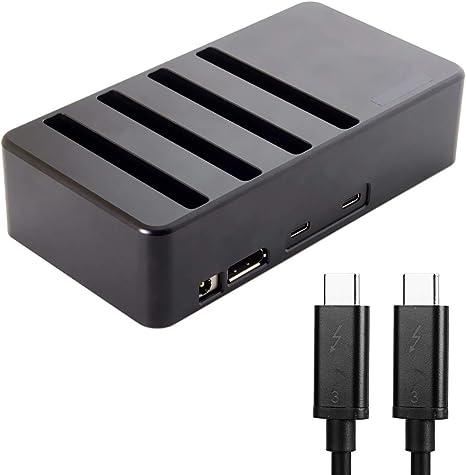 CY Thunderbolt 3 a 4 SATA 6 Gbps HDD SSD Disco Duro Raid Docking ...