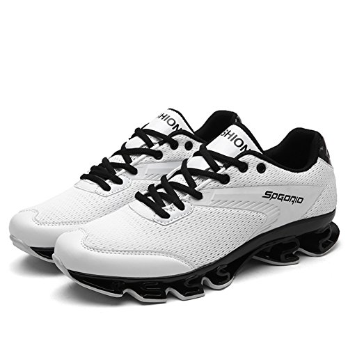Shoes Athletic Lace up Calf Comfort for Outdoor HUAN Spring Boots Men's Athletic Basketball Shoes Casual Fall White Mid Tulle Shoes cqgO0gRaw