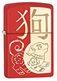 Image of Zippo Year of the Dog Red Matte Pocket Lighter