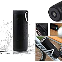 GohEun Portable Wireless Bluetooth Waterproof Outdoor Cycling Flashlight Speaker T2
