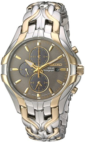 "Seiko Men's SSC138 ""Excelsior"" Two-Tone Stainless Steel S..."