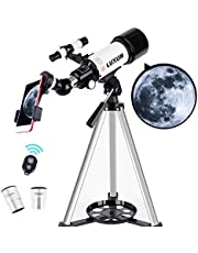LUXUN Telescope for Astronomy Beginners Kids Adults, 70mm Aperture 400mm Astronomical Refracting Portable Telescope - Travel Telescope with Phone Adapter Carry Bag