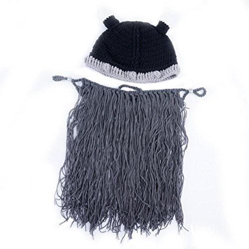 Vagabond Gracioso Bearded Punto De Beanie Unisex Halloween Invierno Gorros Gorras Sombreros Dark Grey Gorras 1Xqzw1x0r